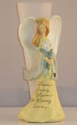 Foundations Karen Hahn Angel Figural Bud Vase-117272