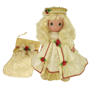 "Precious Moments 2018 Stocking Doll, May Your Christmas Be Merry & Bright, 16"" doll-1248"