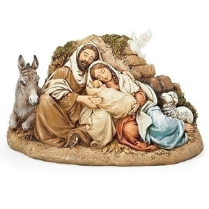 Roman Restful Holy Family Figurine-130033