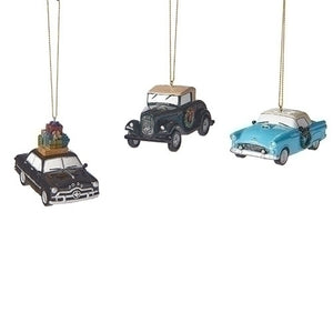 "Roman, Inc. 3""Long Ford Car Ornaments, 1932 Ford V8, 1949 Ford Custom, 1955 Ford Thunderbird - 130949"