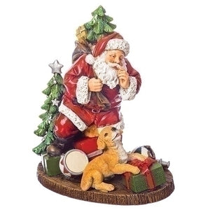 Roman Santa with Dog Figurine-131654