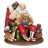 Roman Santa with Noah's Ark and Deer Sitting in Chair-132294