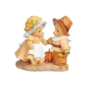 Cherished Teddies Priscilla & John Thanksgiving Figurines-132856