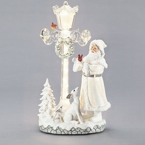 Roman's Musical Santa With Led Light Post-133131
