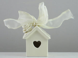 Mud Pie Victorian Rose Birdhouse Ornament-15601