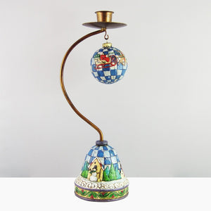Jim Shore Large Santa Taper Candleholder-4003439