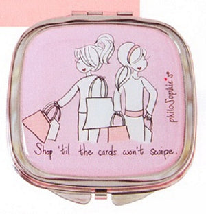 PhiloSophie's Shop Till the Cards Won't Swipe-Double Mirror Compact-4010225