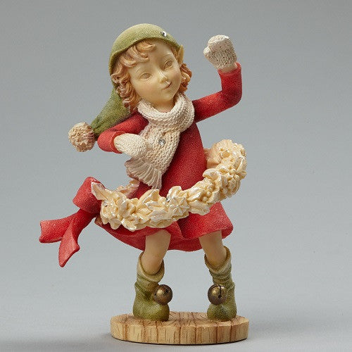 Heart of Christmas Girl Elf With Wreath-4046837