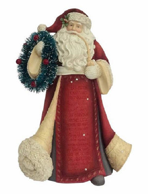 Heart of Christmas Santa With Wreath - 4057645
