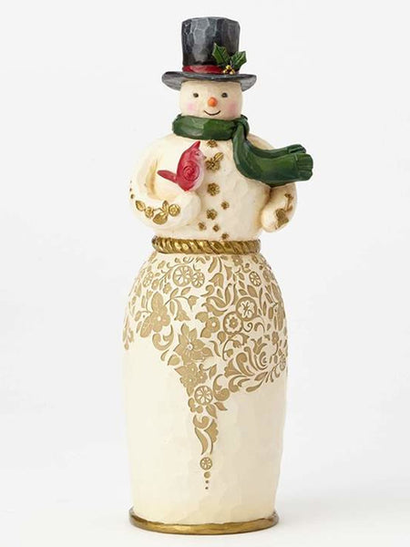 Jim Shore Heartwood Creek - Golden Garland Snowman/Bird - 4058760