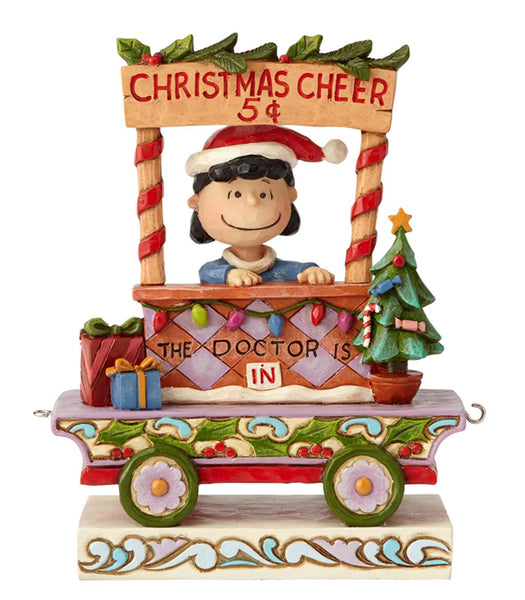 Peanuts by Jim Shore Lucy Christmas Train - 6000991