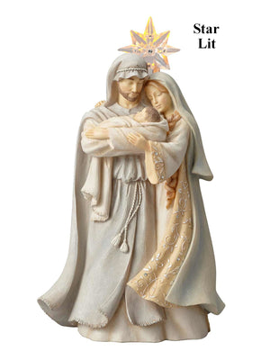 Foundations Holy Family with Lighted Star-6001145