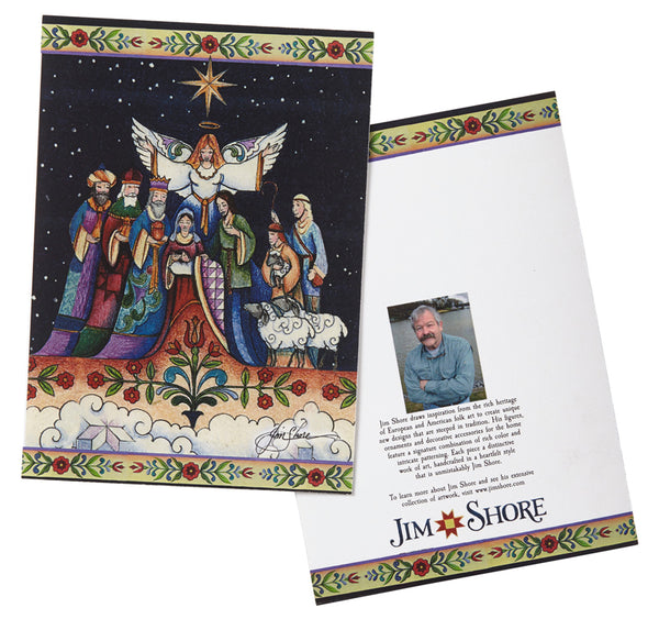 Jim Shore HWC Nativity Holiday Card Set of 10 – 6002246