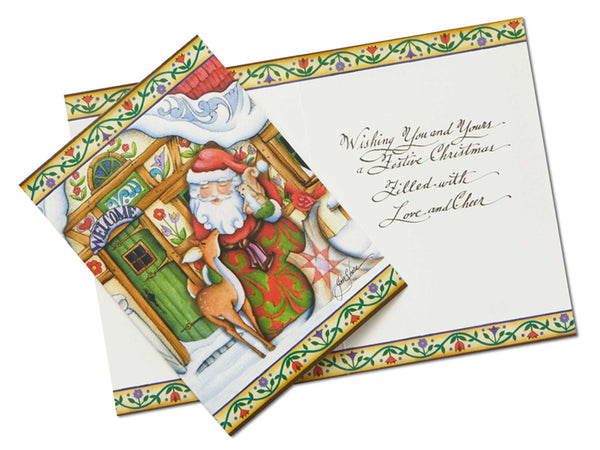 Jim Shore HWC Santa Holiday Card Set of 10 – 6002247