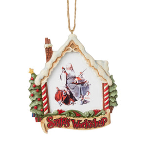 Saturday Evening Post by Jim Shore Santa in Workshop Ornament - 6004491