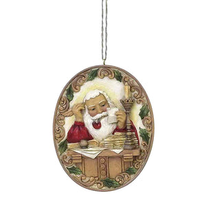 Saturday Evening Post by Jim Shore Santa At Desk Ornament - 6004492
