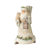 Jim Shore Heartwood Creek White Woodland Collection Santa With Owl & Lantern – 6006578