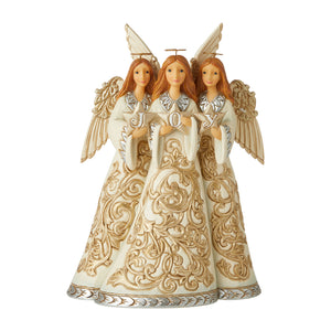Jim Shore Heartwood Creek Holiday Lustre Trio Of Angels – 6006611