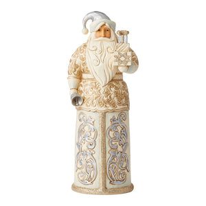 Jim Shore Heartwood Creek Holiday Lustre Santa with Bell - 6006614