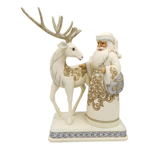 Jim Shore Heartwood Creek Holiday Lustre Santa/Reindeer - 6006615