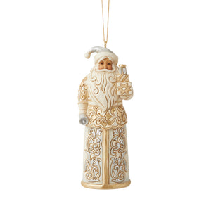 Jim Shore Heartwood Creek Holiday Lustre Santa Ornament - 6006618