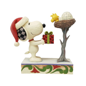 Jim Shore - Snoopy giving Woodstock a Gift – 6006938