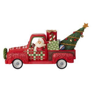 Jim Shore Santa in Red Truck - 6007443