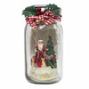 Jim Shore Lighted Glass Jar with Santa - 6007448