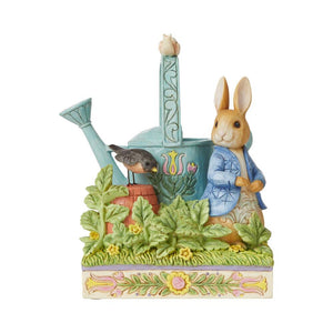 Jim Shore Heartwood Creek Peter Rabbit with Watering Can – 6008744