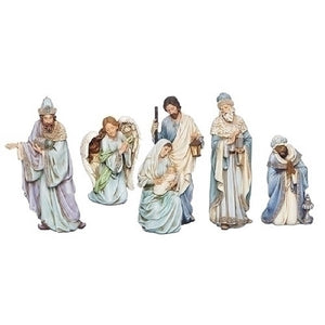 Roman Five Piece Set  Blue Robe Nativity-633245