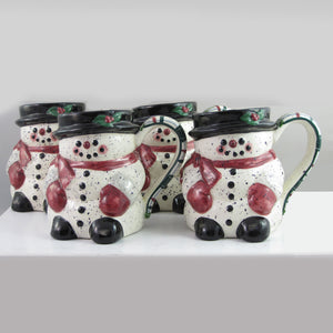 Julie Ueland Set of Snowmen Mugs-648809