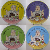 Mud Pie Just Desserts Set of Four Plates-7220