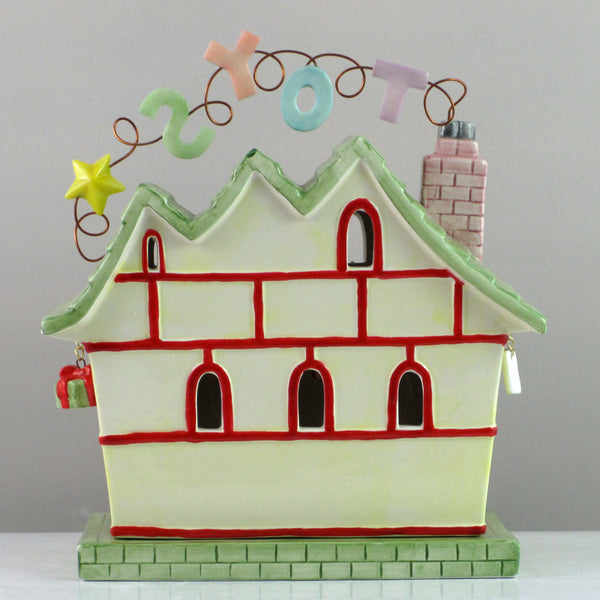 Mud Pie Santa's Workshop Candle House-86006