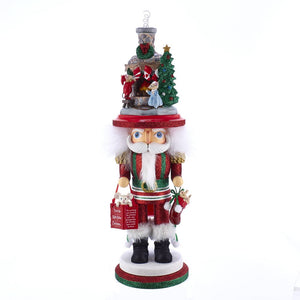 Kurt Adler Hollywood™ Stockings On Fire Place Nutcracker - HA0467