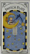 Mary Engelbreit Baby Sitting on a Moon Single Switch Plate - SSBMS