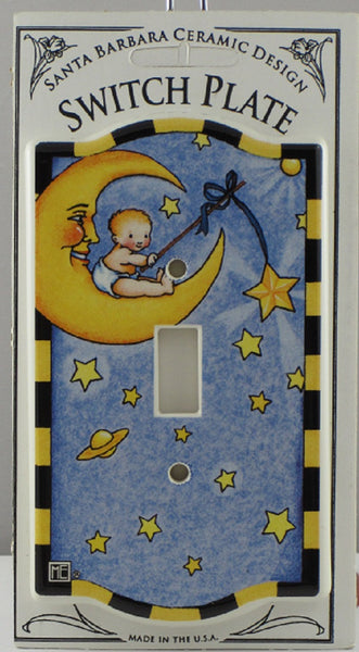 Mary Engelbreit Baby Sitting on a Moon Single Switch Plate-SSBMS