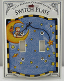 Mary Engelbreit Baby Sitting on a Moon Double Switch Plate-SDBMS
