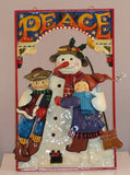 Mary Engelbreit  Holiday Snowman With Children Plaque-ME253