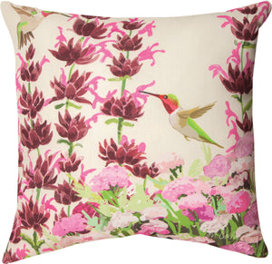 Manual Woodworkers California Native Flowers and Hummingbid Pillow-SLCNHB