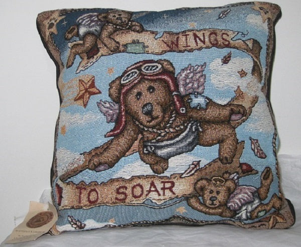 Boyds Bear Flight Training Pillow-TLBFT