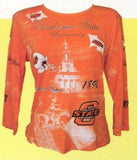 Oklahoma State University Women's Collegiate Fashion Tee Shirts- P. Micheal, Inc.