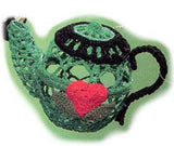 Mary Engelbreit Comfort & Joy Crocheted Teapot Hanging Ornaments-112276-B