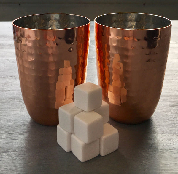 Copper drinks tumbler and Whiskey stones