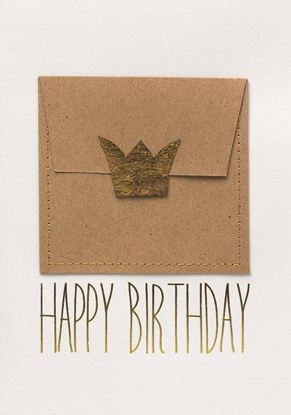 Crown Happy Birthday card