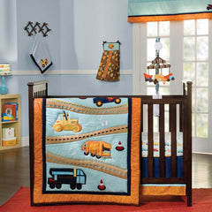zutano-construction-4-piece-crib-set Zutano Construction 4 Piece Crib Set - Trendy Strollers - 1