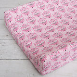 Caden Lane Sheet - Pink Damask - Single - Trendy Strollers - 1
