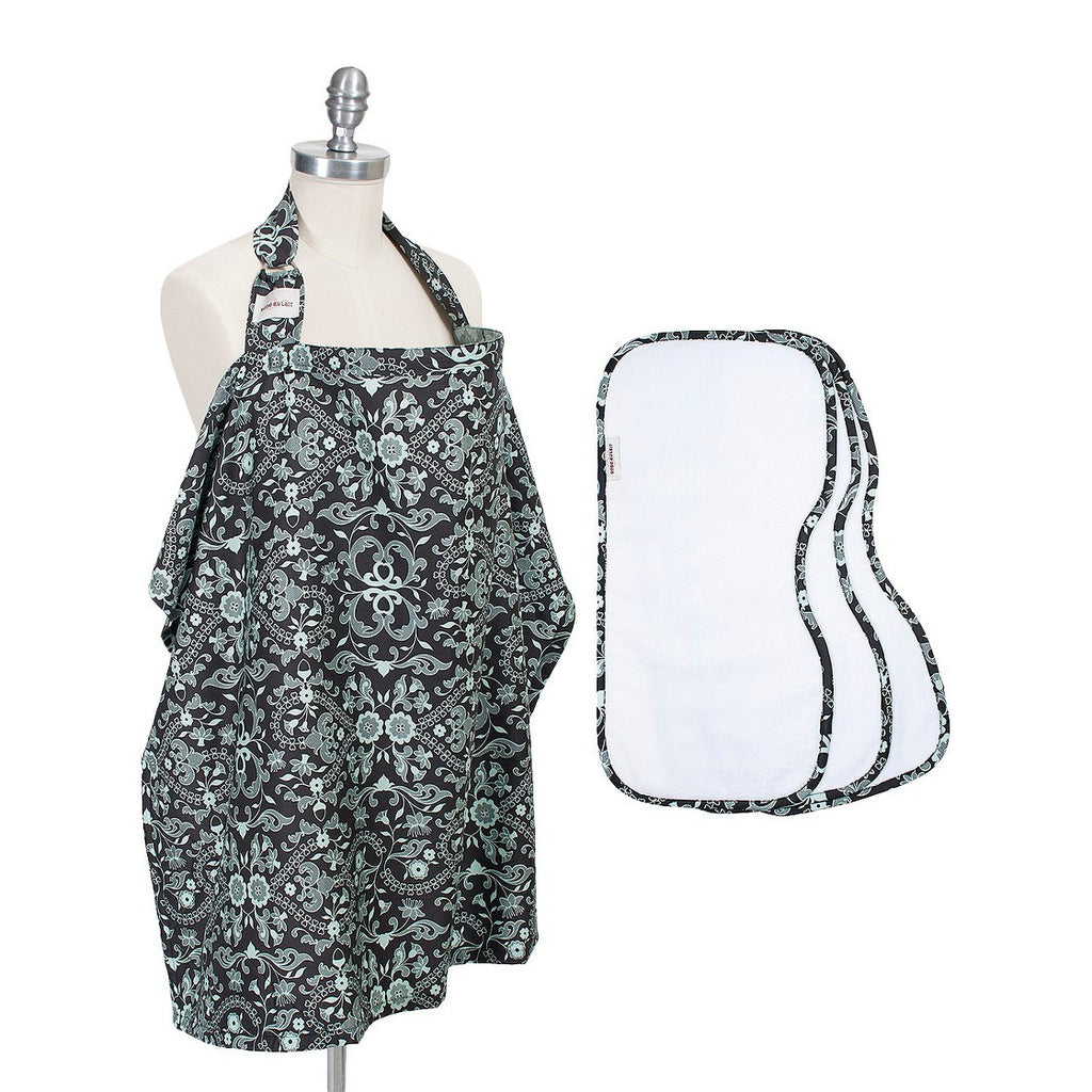 Bebe Au Lait Nursing Cover Deluxe Gift Set - Trendy Strollers - 1