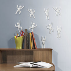 Umbra Climber Wall Decor - 6 Adhesives - White - Trendy Strollers - 2
