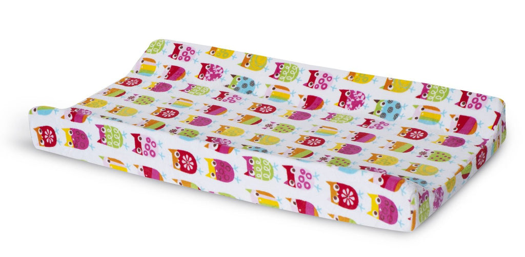 Zutano Owl Velour Changing Pad Cover - Trendy Strollers - 1