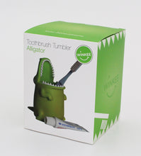 Load image into Gallery viewer, Alligator Toothbrush Holder